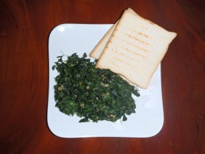Moringa with garlic
