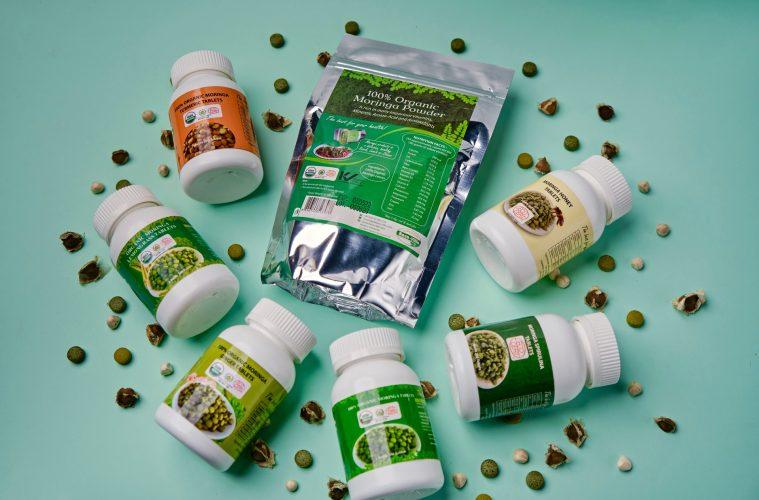 Moringa products display